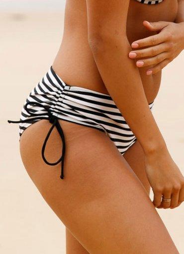 Siyah Beyaz Destekli Bikini Alt - 0545 356 96 07