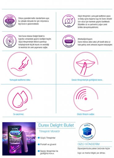 Durex Intense Delight Bullet Titreşimli Vibratör