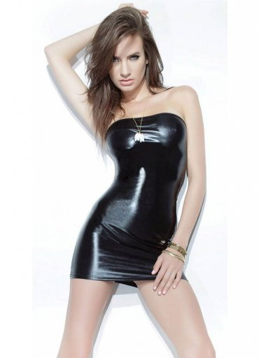 Lame Straplez Mini Elbise - 0545 356 96 07