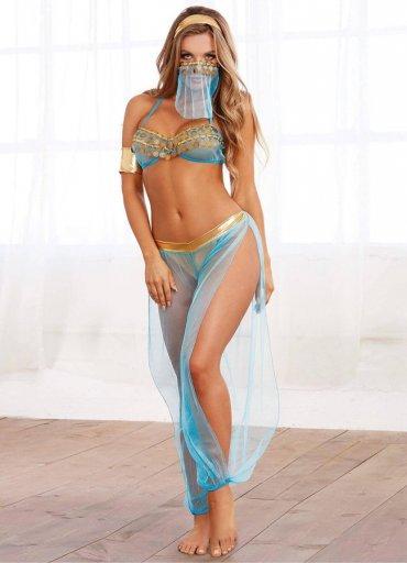 Mavi Dansöz Kostümü - 0545 356 96 07