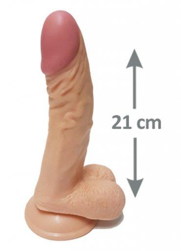 Pleasure 21 Cm Testisli Gerçekçi Dildo - 210 TL