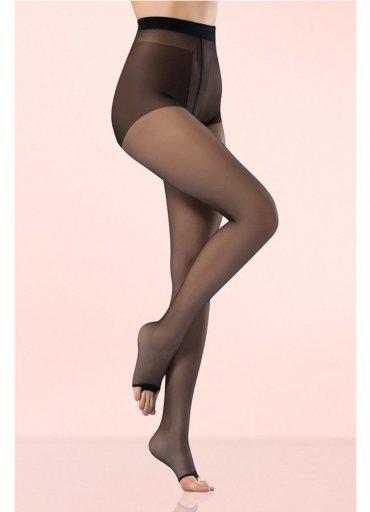 Külotlu Çorap Şeffaf Burnu Açık Siyah - 0545 356 96 07