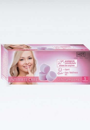 HOT Intimate Care Yumuşak Vajinal Tampon 5 Adet