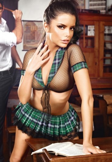 Sexy Liseli Kostümü