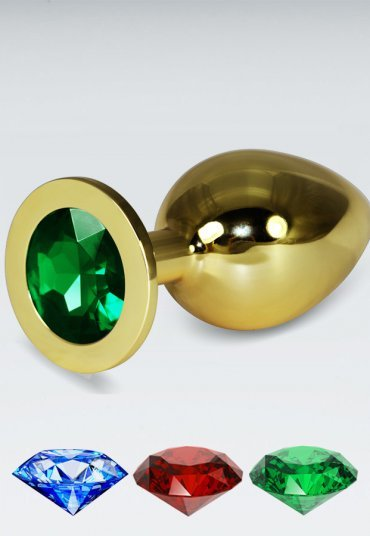 Yeşil Büyük Boy Gold Anal Plug