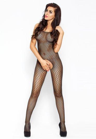 Özel Bölgesi Açık Erotik Siyah Vücut Çorabı
