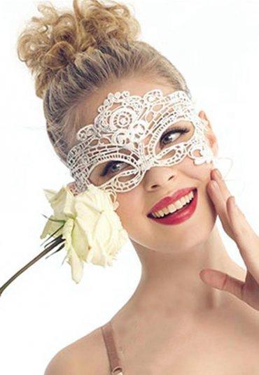 Merry See Beyaz Dantel Göz Maskesi