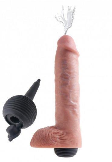 Boşalma Özellikli Damarlı ve Testisli Penis 28 Cm