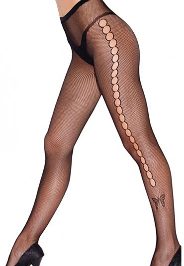 Seksi Kelebek Figürlü Külotlu Çorap