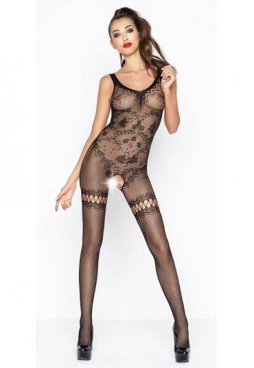 Sexy Siyah Vücut Çorabı