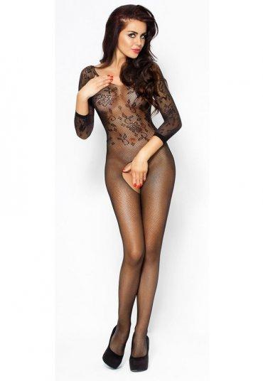 Uzun Kollu Siyah Vücut Çorabı