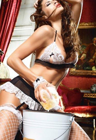 Siyah Beyaz Sexy Fransız Hizmetçi Kostümü