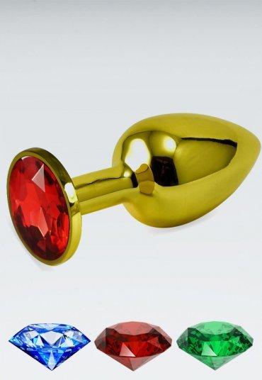 Küçük boy gold anal plug Kırmızı
