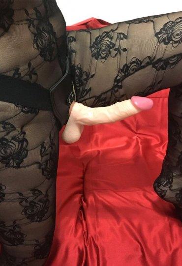 Eğik Belden Bağlamalı Realistik Penis