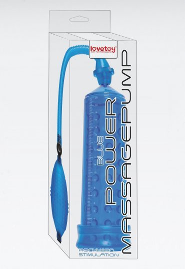 Power Massage Pump Mavi Vakumlu Penis Pompası