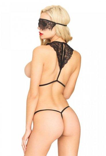 Sexy Maskeli Fantazi İç Giyim Seti