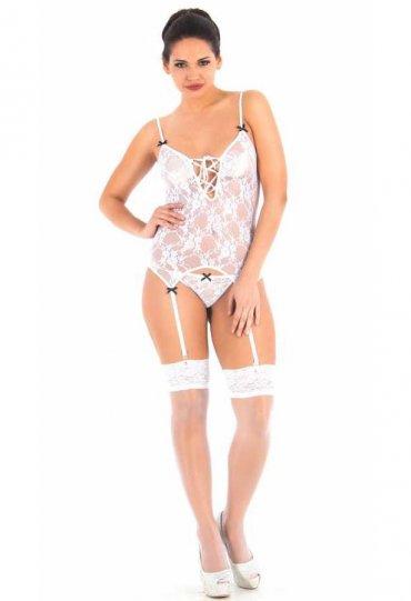 Jartiyerli Beyaz Sexy Body