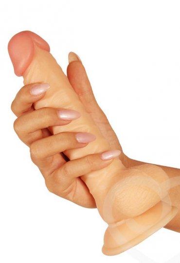 Çift Dokulu 18 Cm Realistik Penis