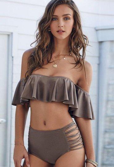Kahverengi Çok Şık Bikini takım