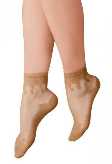 Tabanı Destekli Şeffaf Fit Soket Çorap