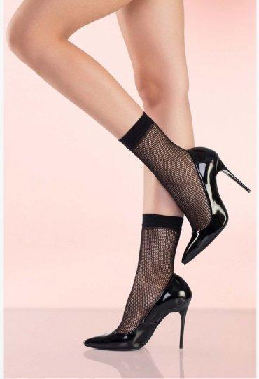 Siyah File Soket Çorap