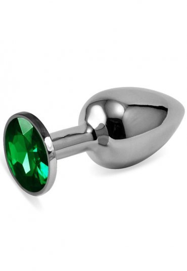 Küçük boy metal anal plug Yeşil