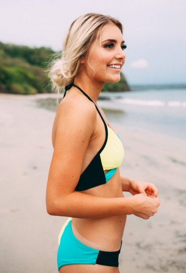 Renkli Şık Tasarım Bikini Üst