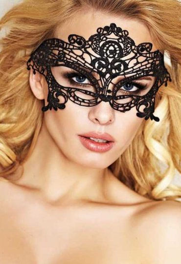 Seksi Siyah Dantelli Maske