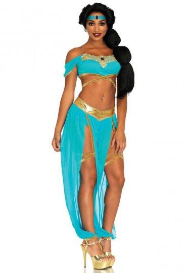 Seksi Aksesuarlı Hint Dansöz Kostümü