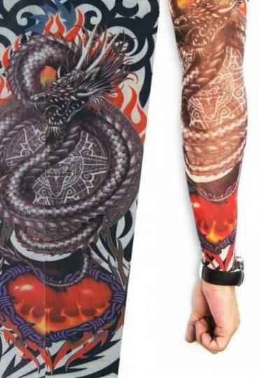 Tattoo Ejderha Desenli Giyilebilir Dövme
