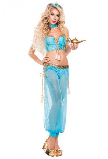 Mavi Şık Dansöz Elbisesi Kostümü