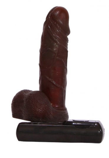 Oynar Başlı Prime Realistic Brown Titreşimli Penis