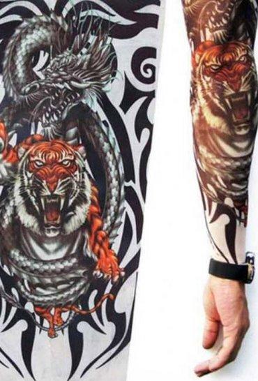 Tattoo Kaplan Motifli Giyilebilir dövme
