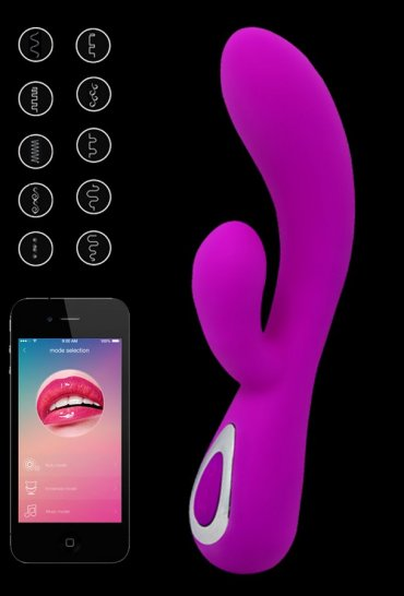 Telefon Uyumlu Titreşimli Orgazm Vibratörü