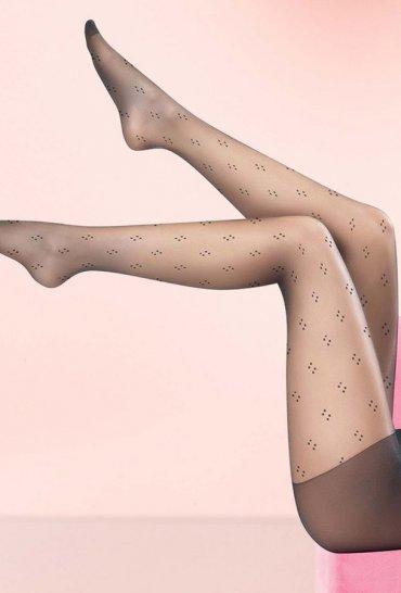 Siyah Nokta Desenli Külotlu Çorap