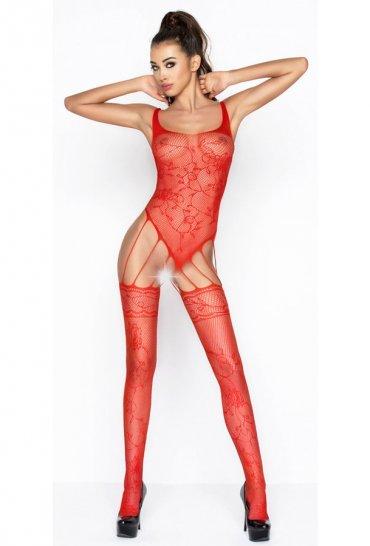 İnce Bağlantılı Kırmızı Vücut Çorabı