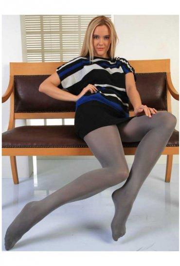 Termal Külotlu Çorap Gri