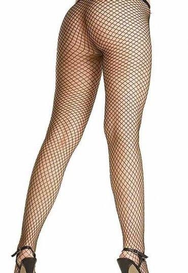 Balık Ağı Desenli Seksi Külotlu Çorap