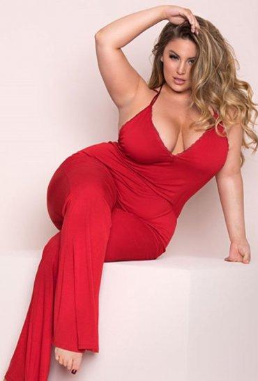 Büyük Beden Kırmızı Pijama Takım