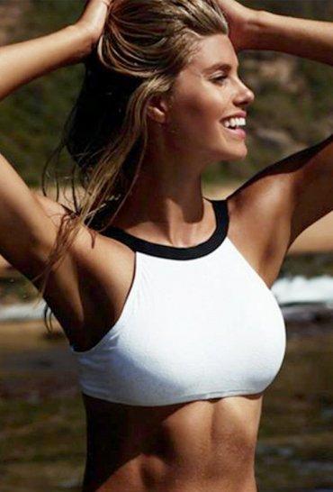 Siyah Beyaz Şık Tankini Bikini Üst