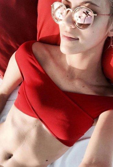 Kırmızı Özel Tasarım Bikini Üst