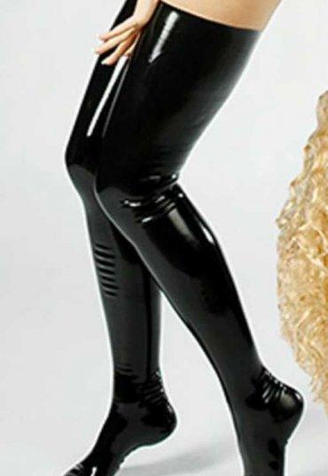 Merry See Fetiş Deri Çoraplar