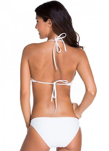 2017 Beyaz Özel Tasarım Tankini Bikini