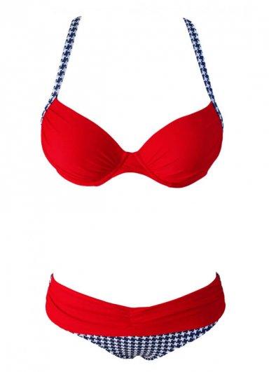 Kırmızı Desenli Bikini Alt