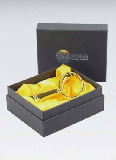 Gold anal plug 9.65 Cm