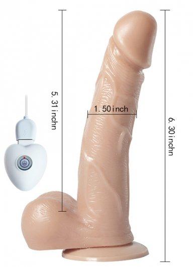 Oynar Başlı Titreşimli 18 Cm Realistik Vibratör Penis