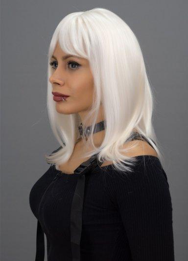 Orta Boy Renkli Beyaz Peruk