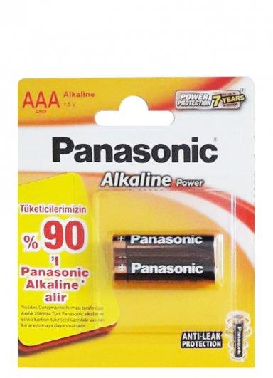 Panasonic Power Alkalin 2xAAA İnce Kalem Pil