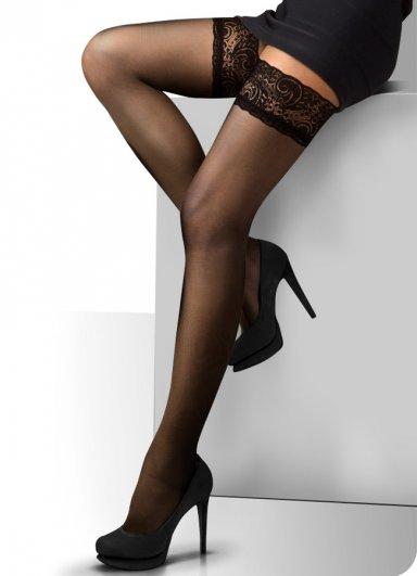 Slikonlu Jartiyer Çorap Siyah