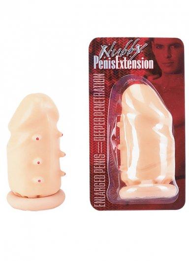 Tırtıklı Uzatmalı Penis Kılıfı